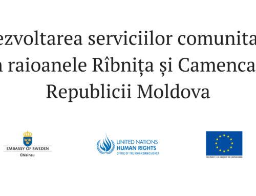 Dezvoltarea serviciilor comunitare în raioanele Rîbnița și Camenca a Republicii Moldova