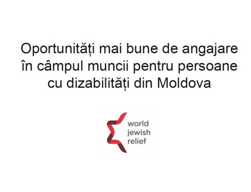 Oportunități mai bune de angajare în câmpul muncii pentru persoane cu dizabilități din Moldova