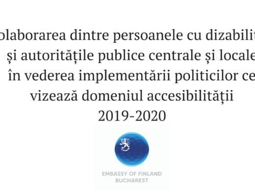 Colaborarea dintre persoanele cu dizabilități și autoritățile publice centrale și locale în vederea implementării politicilor ce vizează domeniul accesibilității
