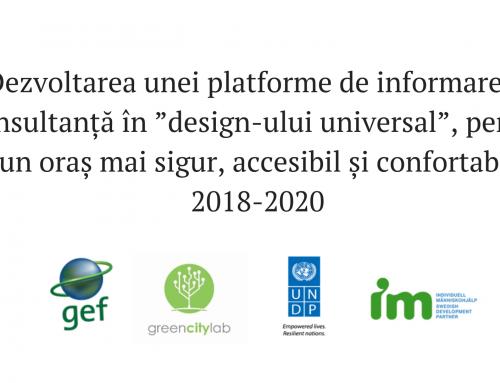 """Dezvoltarea unei platforme de informare și consultanță în """"design-ului universal"""", pentru un oraș mai sigur, accesibil și confortabil"""