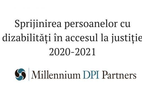 Sprijinirea persoanelor cu dizabilități în accesul la justiție