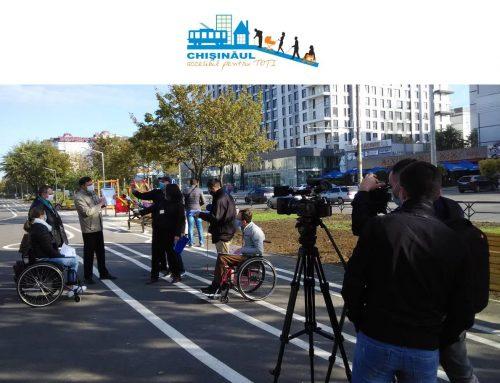 Aleea Bulevardului Mircea cel Bătrân aflată la etapa finală de renovare este parțial accesibilă pentru persoanele cu mobilitate redusă