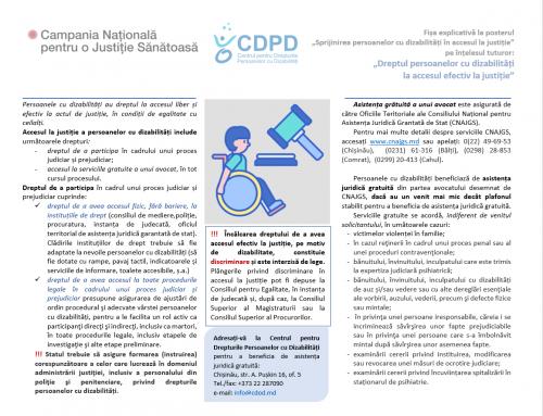Dreptul persoanelor cu dizabilități  la accesul efectiv la justiție