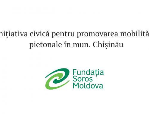 Inițiativa civică pentru promovarea mobilității pietonale în mun. Chișinău