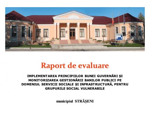 Raport de evaluare Strășeni